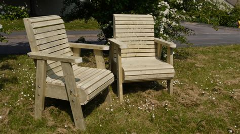 chunky garden chairs  wooden workshop oakford devon