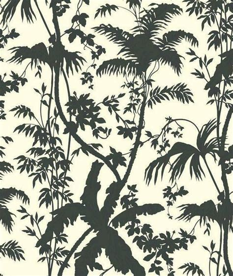 jungle pattern black and white black and white tropical leaf forest modern toile exotic