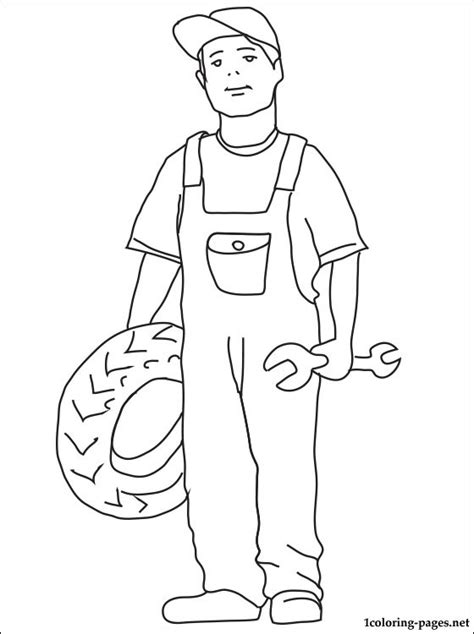 free coloring pages of mechanic