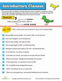 introductory clauses worksheet education com