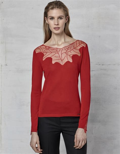 Sweater Cocktails lace cocktail sweater aw2017 roberto verino