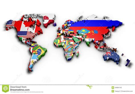 world map with countries flag political map of world stock illustration illustration of