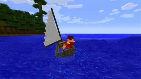 minecraft working boat mod minecraft sail boat mod episode 813 youtube