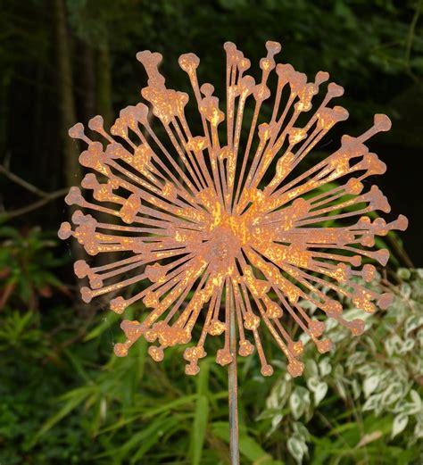 Rost Deko Garten Blume blume pusteblume metall edelrost rost gartenstecker