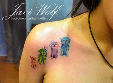 watercolor tattoo ta wear a of living with a javi wolf
