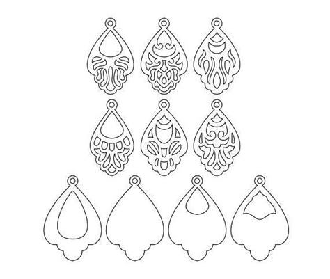 earring card template silhouette best 25 stencil templates ideas on free