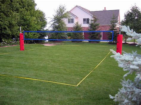 backyard beach volleyball court how to construct a grass artificial turf volleyball