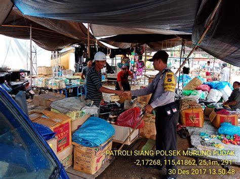 Himbauan Kepada Pembeli cegah kriminal polsek murung pudak laksanakan patroli pasar tribrata news