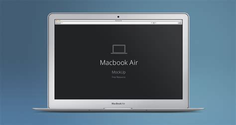 Macbook Air Psd Mockup Psd Mock Up Templates Pixeden Computer Screen Photoshop Template