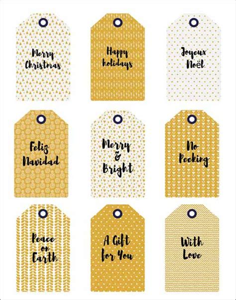 printable ribbon tags holiday gift tags labels and ribbons in glittery gold