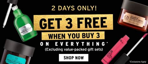 Get Fabulous At The Shop 3 by The Shop Buy 3 Get 3 Free Free Shipping Plus Coupons
