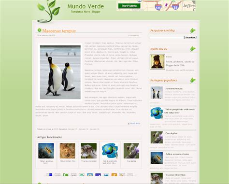 stylish templates for blogger mundo verdo blog template blogger templates 2013