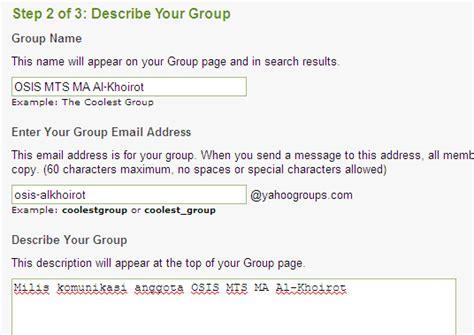 membuat milis yahoo membuat email website pribadi konsultasi syariah