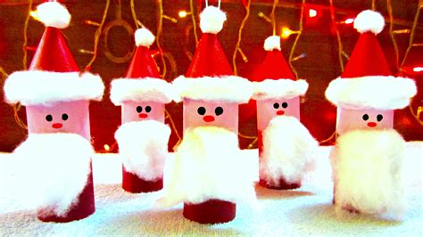 toilet paper roll santa claus ornaments how to make