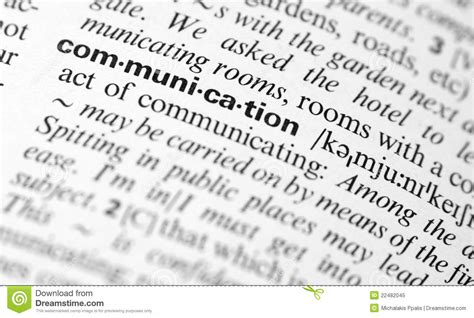 stock images definition communication word definition stock image image 22482045