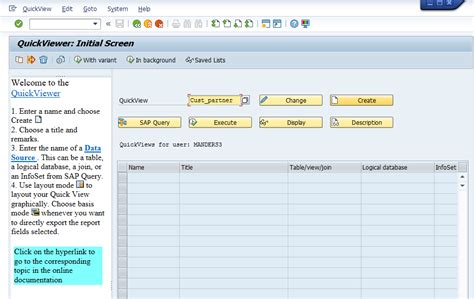query layout design sap sap fico sqvi query tool fico findings in sap