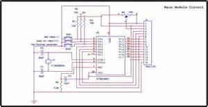 at89c4051 digital real time clock circuit electronic circuit schematic wiring diagram