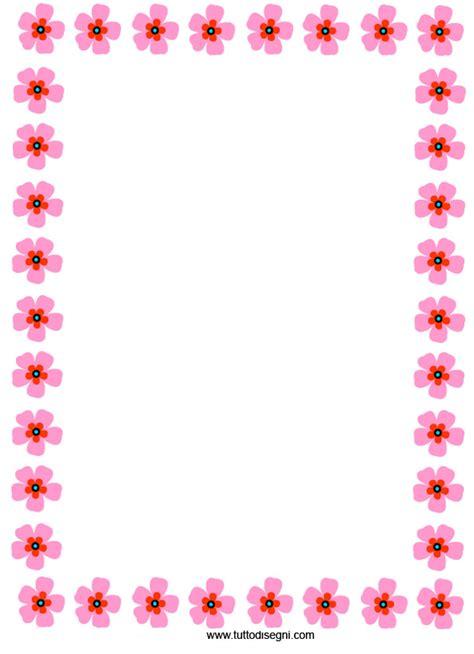 cornicette fiori cornicetta con fiori rosa tuttodisegni