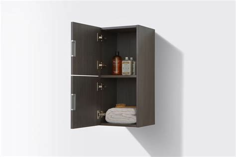 high gloss grey bathroom cabinets bathroom high gloss gray oak linen side cabinet w 2