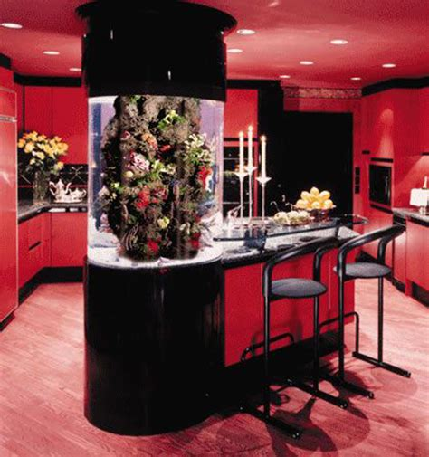 kitchen design aquarium red kitchen aquarium table