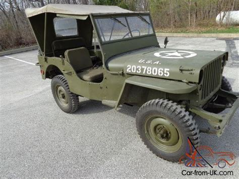 1942 Jeep For Sale 1942 43 Willy S Jeep Completely Restored