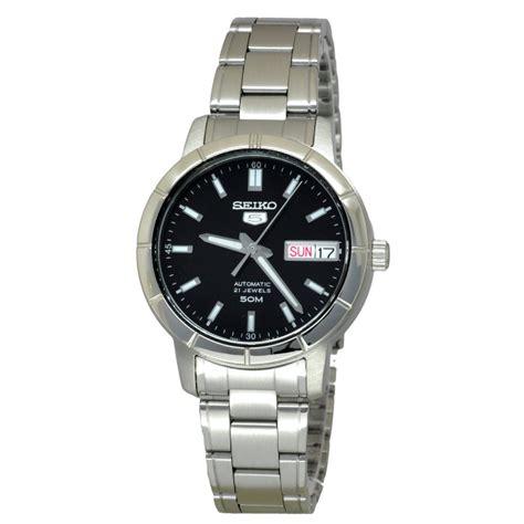 jual jam tangan wanita seiko 5 snk895k1 automatic black