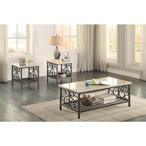 marble living room table set marble top 3 coffee table set living room table