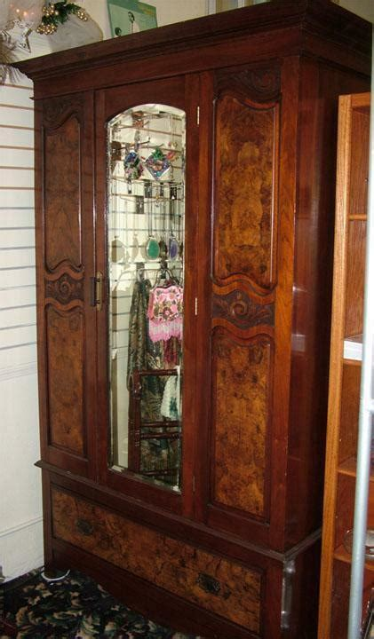 Antique Armoires Wardrobes - must sell antique beautiful walnut burlwood armoire w