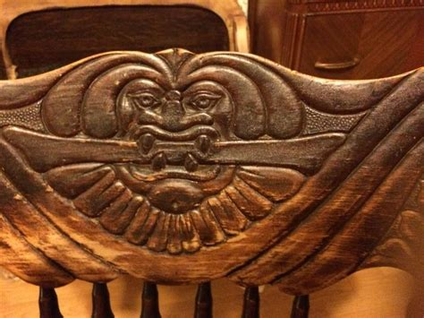 rocking chair carved face  antique furniture collection