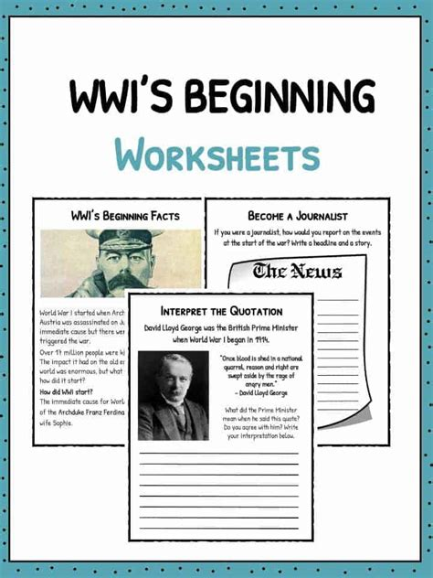 Wwi Worksheets by How Did Ww1 Start Worksheets Facts Information