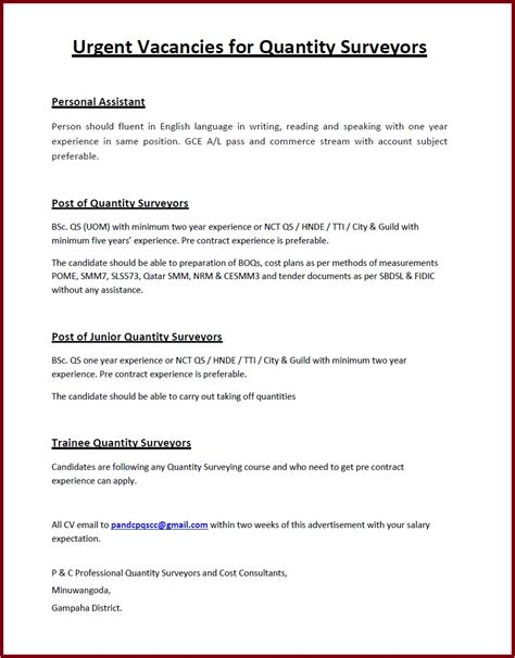 International Trainee Cover Letter by International Trainee Cover Letter Quantity Surveyor Resume Sle Fresh Graduate Quantity
