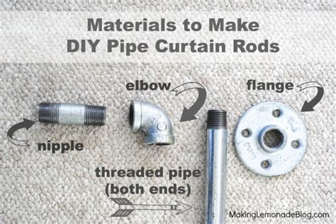 diy industrial pipe curtain rods boys room update