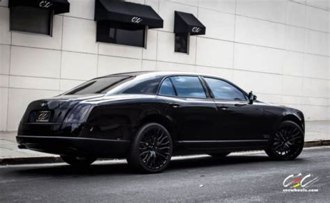 bentley blacked out purchase used 2013 bentley mulsanne blacked out with 22