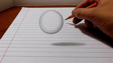 How To Make A 3d Drawing On Paper - how to draw a levitating easy 3d trick