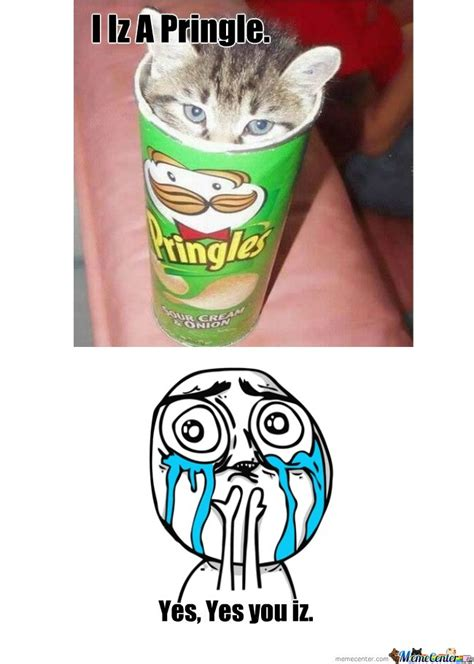 Pringles Meme - i iz a pringle by izzy meme center
