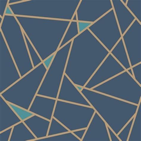 gold lines navy blue wallpaper prismatic wallpaper ry2704 gold blue modern geometric