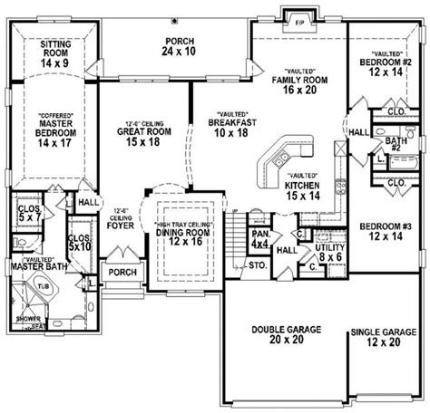 4 bedroom 3 bath house plans 654267 4 bedroom 3 bath traditional house plan house