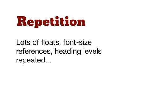 design heading font repetitionlots of floats font sizereferences heading