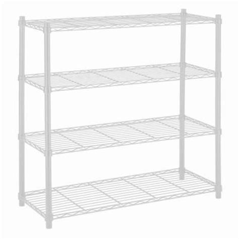 hdx wire shelving hdx 36 in x 14 in 4 tier wire shelf in white