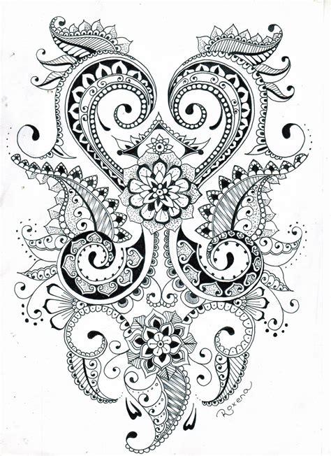 tattoo flower patterns mehndi flower design by roxyloxy deviantart com on