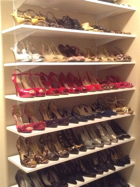 shoe shelves walk in closet closet