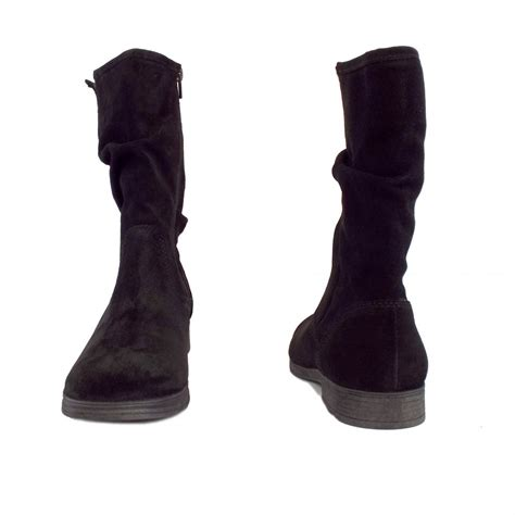 black boots gabor dolce s mid calf boots black suede