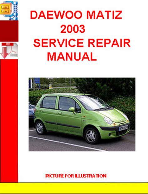 Daewoo matiz repair manual free download