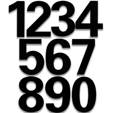 printable bold numbers raised house numbers bold in house numbers