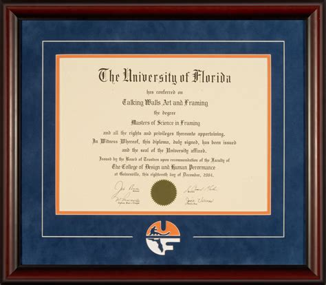 Uf Time Mba Business Major by Of Florida Diploma Frame With Classic Logo