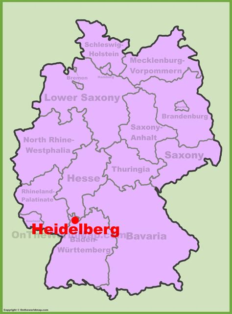 locate germany on world map heidelberg location on the germany map
