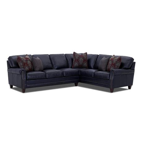 Fabric And Leather Sectional by Comfort Design Cl7000 Sect Camelot Fabric And Leather Sectional Discount Furniture At Hickory