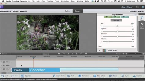 tutorial adobe premiere elements adobe premiere elements 11 tutorial manually adjusting