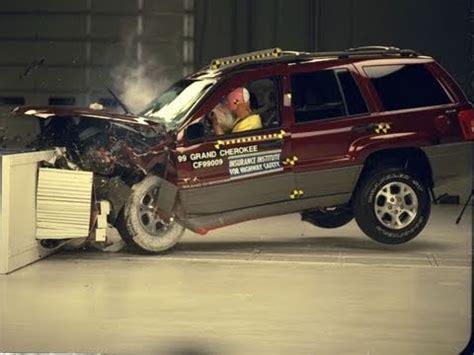 Jeep Grand Crash Test 1999 Jeep Grand Moderate Overlap Iihs Crash Test