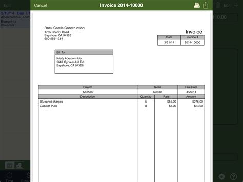 Template For Quickbooks Quickbooks Invoice Template Excel Invoice Sle Template